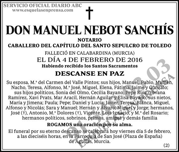 Manuel Nebot Sanchís